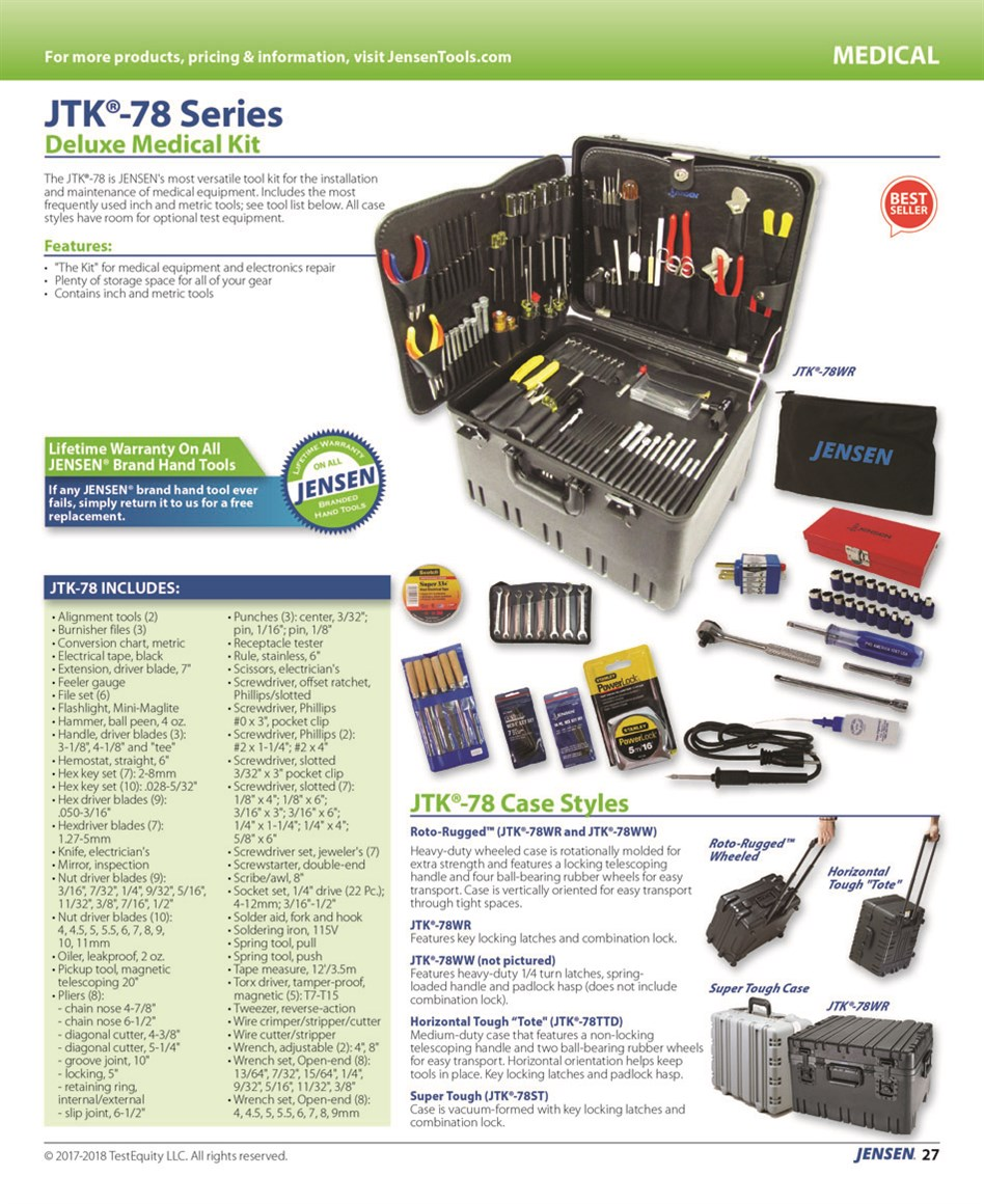 Catalogs / 2017 Tool Kit Guide / Page 27 | JENSEN Tools + Supply