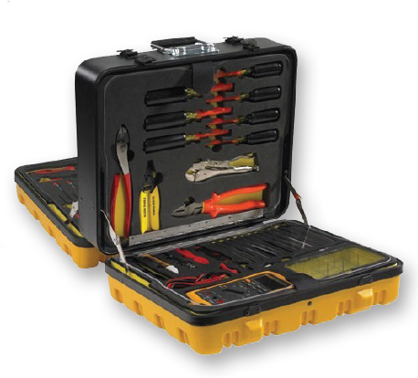 Jensen Tools General ElectronicsTool Kit in a 4-Sided Tool Control Case