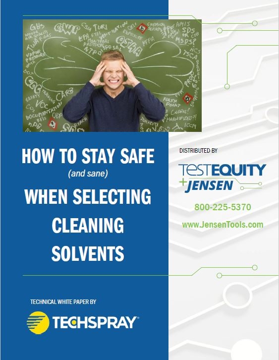 "Download ""How To Stay Safe When Selecting Cleaning Solvents"" White Paper"