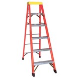 F1A06 6' Fiberglass Step Ladder, Type 1A 300 Lb