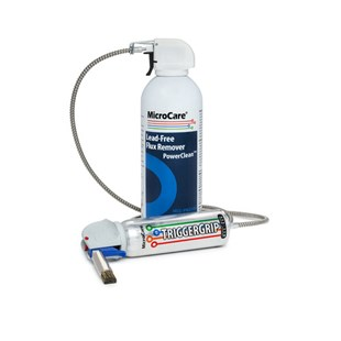 MicroCare MCC-PW210A-PROMO PowerClean™ Lead-Free Flux Remover 10 oz Can, 12/Case with FREE TriggerGrip™