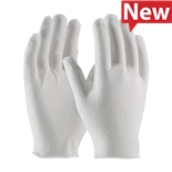 PIP 2546 Economy Inspection Glove, Light Weight Cotton Lisle/Polyester, Unhemmed Cuff, Men's, CleanTeam Series