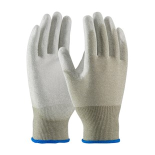 PIP 1471 Gloves, Seamless Knit ESD, Nylon/Copper Fiber, Polyurethane Coated Smooth Grip, CleanTeam Series