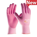 PIP 34-8264/S Gloves, Seamless Elastane, UltraLight Nitrile Coat, MicroFoam Grip, Pink, MaxiFlex Active Series, Small