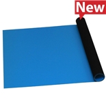 Desco 66414 Statfree Roll Mat, T2 Plus Rubber, Dissipative, Blue, 0.060'' X 36'' X 20'