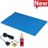 Desco 66432 Statfree Mat Kit, T2 Plus Rubber, Dissipative, Blue, 0.060'' X 30'' X 60''