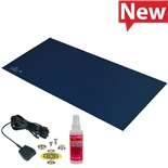 Desco 66437 Statfree Mat Kit, T2 Plus Rubber, Dissipative, Dark Blue, 0.060'' X 30'' X 72''