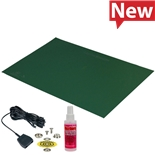 Desco 66439 Statfree Mat Kit, T2 Plus Rubber, Dissipative, Green, 0.060'' X 30'' X 72''