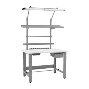 "TestEquity RE3072TE Height Adjustable Workstation with Accessories and Standard Top, 30"" x 72"""