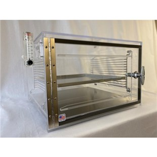 "DMSemiconductor TS-5430SDC 1 Door Table Top ESD Safe Desiccator Cabinet, 18""W x 18""D x 12""H"