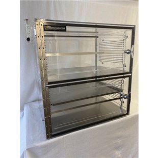 """DMSemiconductor TS-5436SDC 2 Door Table Top ESD Safe Desiccator Cabinet, 24""""W x 18""""D x 24""""H"""