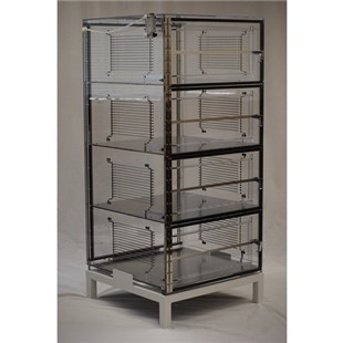 """DMSemiconductor TS-5452SDC 4 Door Mobile ESD Safe Desiccator Cabinet, 24""""W x 24""""D x 48""""H"""