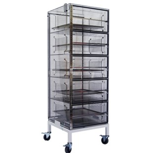 """DMSemiconductor TS-5460SDC 5 Door Mobile ESD Safe Desiccator Cabinet, 24""""W x 24""""D x 60""""H"""