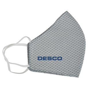 Desco 97552 Face Mask, Static Dissipative, Gray, S-M