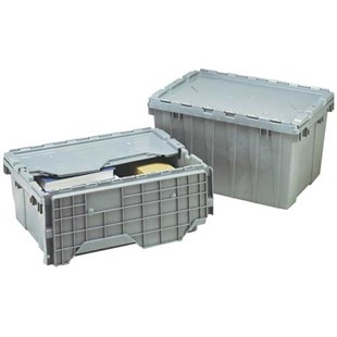 """Akro-Mils 39085 Attached Lid Storage Container, 21-1/2"""" x 15"""" x 9"""""""
