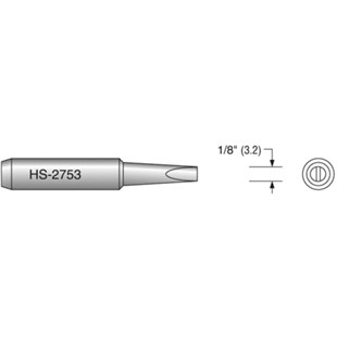 "Plato HS-2753 1/8"" Chisel Solder Tip, Interchangeable for T18-D32"