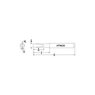 Hexacon HT463X TIP TURNED TIP 3/16 HEXACON          HT463X