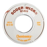 "Chemtronics 50-2-25 SODER-WICK® Rosin Desoldering Braid, .060"", 25ft"