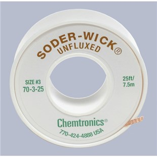Chemtronics 70-3-25 SODER WICK, .080 Green, Unfluxed, 25 ft.