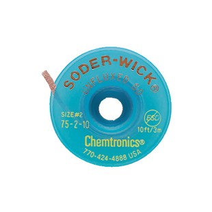 """Chemtronics 75-2-10 Unfluxed Wick, .060"""", on 10 ft. Static Dissipative Spool"""