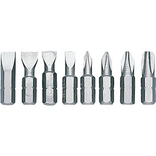 Jensen Tools 940105 Phillips/Slotted Bit Set, 8 pc.