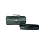 Flambeau 14800-2C Black Conductive Tool Box with Lift-Out Tray