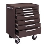 Kennedy 277B 7 Drawer Rolling Cabinet, Brown