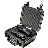 Pelican 1200 All Weather Foam Filled Case, Black, 9-3/8 x 7-1/8 x 4-1/8""