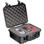 Pelican 1400 All Weather Foam Filled Case Black,  11-13/16 x. 8-7/8 x 5-3/16
