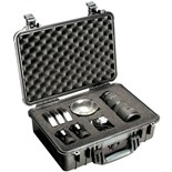 Pelican 1500    All Weather Foam Filled Case, Black, 17 x 11-7/16 x 6-1/8""