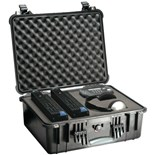 Pelican 1550 All Weather Foam Filled Case, Black, 19 x 14-7/16 x 7-3/4""