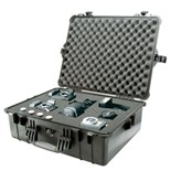 "Pelican 1600 All Weather Foam Filled Case, Black, 21-3/4 x 16-7/8 x 7-7/8"" (No wheels)"