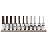 "Proto J4770-11 Hex Bit Socket Set, 11 pc., 1/16"" - 5/16"""