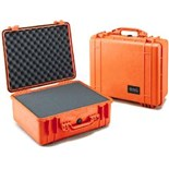 Pelican 1550 Orange Foam Filled All Weather Case  18-7/16 x 14 x 7-5/8""