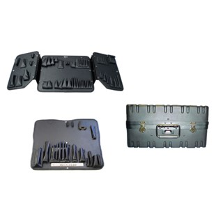 """Jensen Tools 117-313 Tool Case 11"""" Black Extra Rugged With Pallets"""