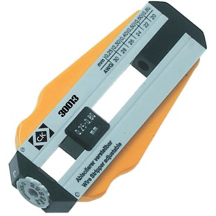CK Tools 330013 Nickless Adjustable Wire Stripper,Range 30 to 20 AWG (0.25-0.80mm)