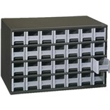 Akro-Mils 19-228 Steel Modular Storage Cabinet with 28 Polystyrene Drawers