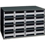 Akro-Mils 19-416 Steel Modular Storage Cabinet with 16 Polystyrene Drawers