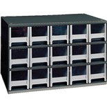 Akro-Mils 19-715 Steel Modular Storage Cabinet with 15 Polystyrene Drawers