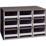 Akro-Mils 19-909 Steel Modular Storage Cabinet with 9 Polystyrene Drawers