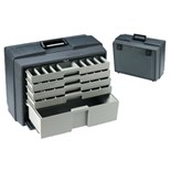 """Flambeau 2275-2 Five Drawer Cabinet (O.D. 19-1/2"""" x 10-3/8"""" x 15"""") with 53 Compartments"""