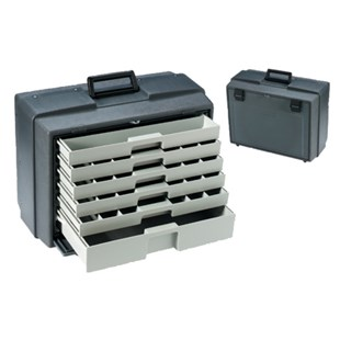"""Flambeau 2276-2 Six Drawer Cabinet (O.D. 19-1/2"""" x 10-3/8"""" x 15"""" ) with 47 Compartments"""