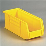 "Akro-Mils 30-230 Yellow Parts Bin, OD 10-7/8"" L x 5-1/2"" W x 5"" H"