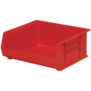 "Akro-Mils 30-250 Red Parts Bin, OD 14-3/4"" L x 16-1/2"" W x 7"" H, 6/Carton"