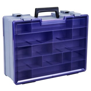 """Flambeau 748-2 Double Sided 18-48 Compartment Case, 15 1/2"""" x x 11 3/4"""" x 5"""""""