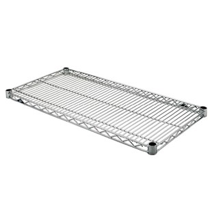 "Metro 1830BR Brite Finish Wire Shelf, 18"" x 30"""