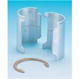 Metro 9986Z Aluminum Split Sleeves with Zinc Rings, 4/Pkg