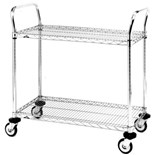 "Metro MW602 Stainless Steel Utility Cart with Two Shelves, 18"" x 24"" x 38"""