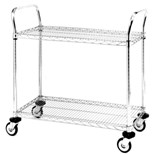 "Metro MW601 Mobile Utility Cart with Two Wire Chrome Shelves, 18"" x 24"" x 39"""