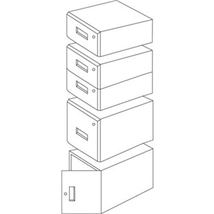 "IAC Industries QS-1050004-D Drawer Assembly 12-1/8"" High"